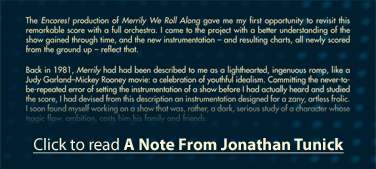 Click to read A Note From Jonathan Tunick